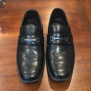 Boys Perry Ellis portfolio black dress shoes